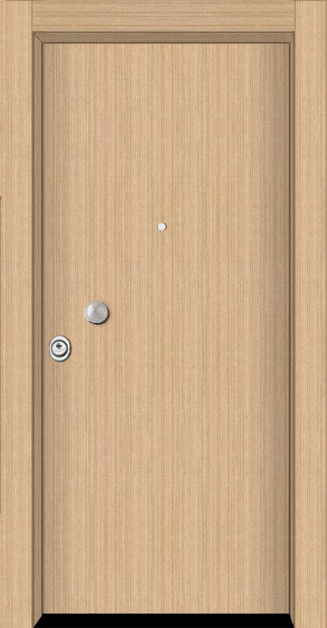 Θωρακισμένη πόρτα τεχνητό δρύς