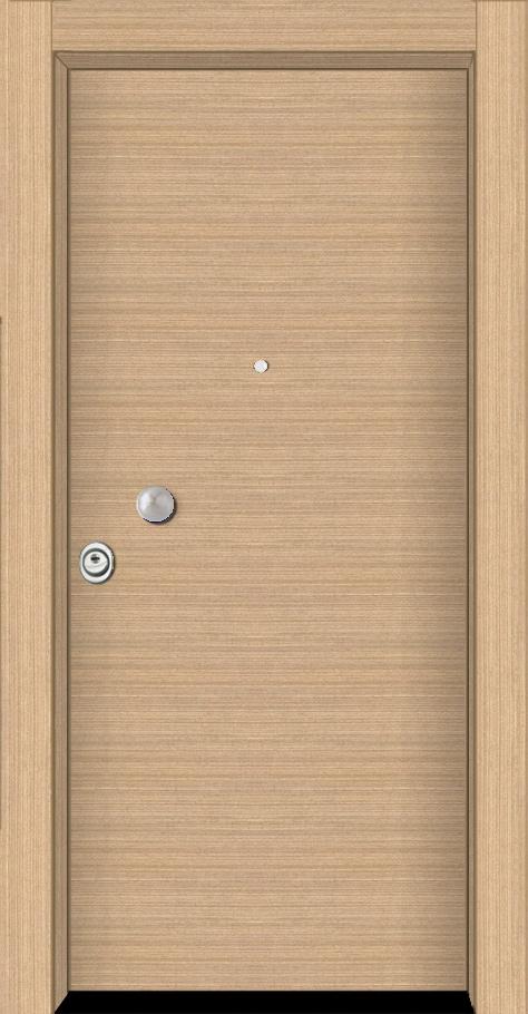 Θωρακισμένη πόρτα τεχνητό δρύς οριζόντιο
